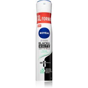 Nivea Black & White Invisible Fresh + Antibacterial antiperspirant v spreji 5 v 1 200 ml