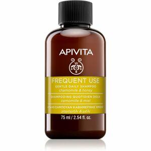Apivita Holistic Hair Care Chamomile & Honey šampón pre každodenné umývanie vlasov 75 ml